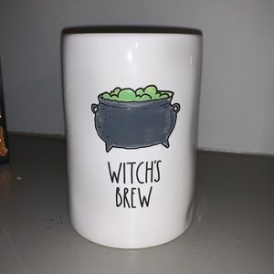 Witch's Brew White Candle Rae Dunn